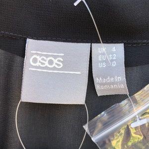 ASOS Tops - NWT Asos sheer wrap top black 0